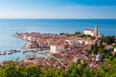 Picturesque old town Piran - Slovenia. Royalty Free Stock Photo
