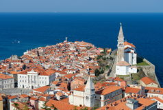 Picturesque old town Piran - Slovenia Stock Photography