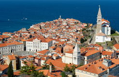Picturesque old town Piran - Slovenia Stock Image