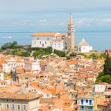 Picturesque old town Piran, Slovenia. Royalty Free Stock Image