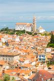 Picturesque old town Piran, Slovenia. Stock Photos