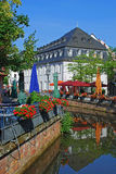 The picturesque old town of saarburg. With the little river leukbach Stock Photography