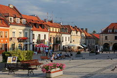 Picturesque old town of Sandomierz, Poland Stock Photography