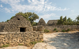 Picturesque old village Bories near Gordes in Provence, France. Picturesque stone huts in old village Bories near Gordes in Provence, France Stock Photography
