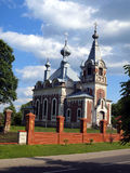 Picturesque Orthodox Church of the Assumption of the Blessed Vir Stock Images
