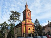 Picturesque Orthodox church in Kanjiza, Serbia Stock Photography