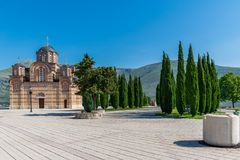 A picturesque Orthodox Old Temple in Trebinje. Bosnia and Herzegovina Royalty Free Stock Photos