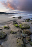 Picturesque Otter Rock beach. Royalty Free Stock Image