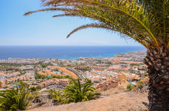 Picturesque outstanding landscape of beautiful resort costa adeje on tenerife, canary islands, spain Stock Photo