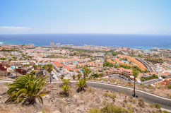 Picturesque outstanding landscape of beautiful resort costa adeje on tenerife, canary islands, spain Royalty Free Stock Image