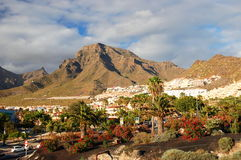 Picturesque outstanding landscape of beautiful resort las americas on tenerife, canary islands, spain Stock Photography