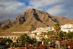 Picturesque outstanding landscape of beautiful resort las americas on tenerife, canary islands, spain Stock Photos