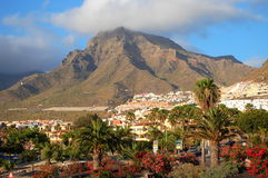 Picturesque outstanding landscape of beautiful resort las americas on tenerife, canary islands, spain Stock Images