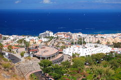 Picturesque outstanding landscape of beautiful resort playa de las americas on tenerife, spain Stock Photo