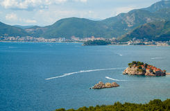 The picturesque panorama of the Adriatic coast near the island o Stock Photography