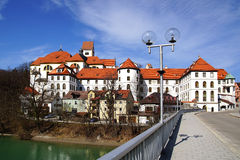 Picturesque panorama of Fussen. Germany Stock Photography