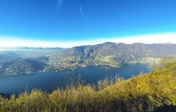 Picturesque panorama of Lake Como, Lombardy, Italy Stock Image