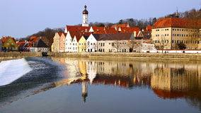 Picturesque panorama of Landsberg am Lech. Germany Stock Image