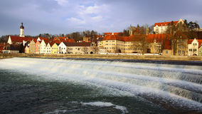 Picturesque panorama of Landsberg am Lech. Germany Stock Photos