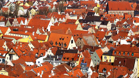 Picturesque panorama of Landshut. Germany Royalty Free Stock Photos