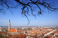 Picturesque panorama of Landshut. Germany Stock Images