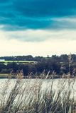Picturesque panorama of Linlithgow Loch in Linlithgow in Scotland,. United Kingdom royalty free stock image