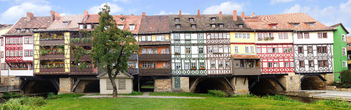 Merchants' Bridge. Erfurt Stock Photo