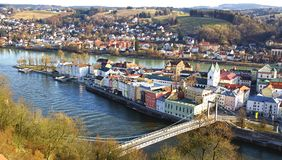 Picturesque panorama of Passau. Germany Royalty Free Stock Image