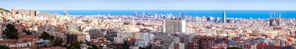 Picturesque panoramic view of Barcelona Royalty Free Stock Photos