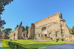 Picturesque panoramic view on ruins the ancient Roman Baths of Caracalla ( Thermae Antoninianae ) Stock Image