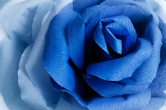 Picturesque paper rose. Origami. Giant multicolored flower. Royalty Free Stock Photos