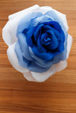 Picturesque paper rose. Origami. Giant multicolored flower. Royalty Free Stock Images