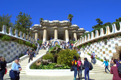 Picturesque  Park Guell entrance,Barcelona Royalty Free Stock Photography
