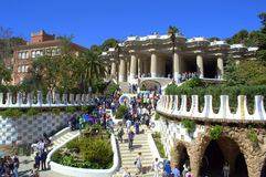 Picturesque  Park Guell entrance,Barcelona Royalty Free Stock Images
