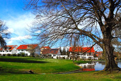 Picturesque park and residential district Stock Image