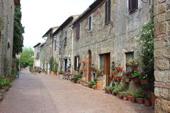 Picturesque pathway in Sovana Royalty Free Stock Image