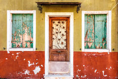 Picturesque peeling facade Royalty Free Stock Image