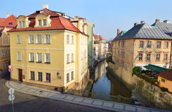 Picturesque place of Prague, River Certovka Stock Image