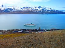 Svalbard. view from Mount Olaf. Norway. A tourist route Stock Photography