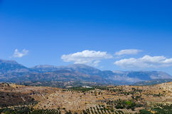 Picturesque plateau in Greece Stock Image