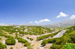 Picturesque plateau in Greece Royalty Free Stock Image