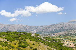 Picturesque plateau in Greece Royalty Free Stock Photography