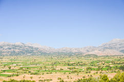Picturesque plateau in Greece Royalty Free Stock Images