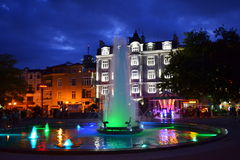 Picturesque Plovdiv city night square Stock Image