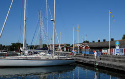 Picturesque port of Nynashamn Stock Photo