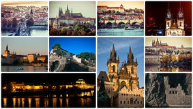 Picturesque Prague sights and landscapes Royalty Free Stock Image