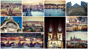 Picturesque Prague sights and landscapes Stock Photos