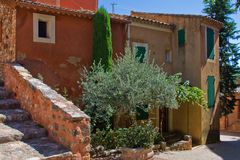 A picturesque provencal village. Views,particulars,houses,churches, colours of a picturesque provencal village stock photography