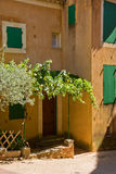 A picturesque provencal village. Views,particulars,houses,churches, colours of a picturesque provencal village stock image