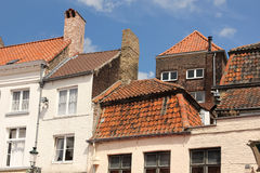 Picturesque red tiled roofs. Bruges. Belgium Stock Photo